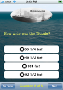Titanic - Test Your Knowledge screenshot 3 - A question.